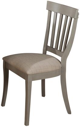771-814KD Pottersville Side Chair with Cabriole Legs  Slat Back Design  and Fabric Upholstery in Antique