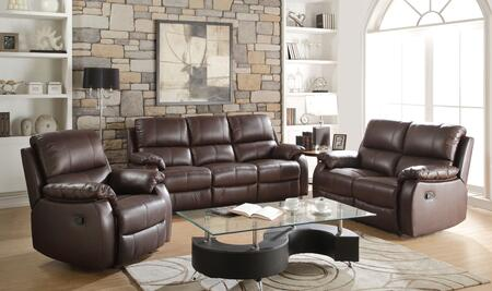 Enoch Collection 52450SLR 3 PC Living Room Set with Motion Sofa + Reclining Loveseat + Recliner in Dark Brown