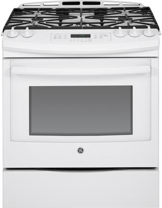 "JGS750DEFWW 30"" Slide-In Front Control Gas Range with 5.6 cu. ft. Oven Capacity  5 Sealed Burners  Self-Clean Function  Convection  and Storage Drawer  in"