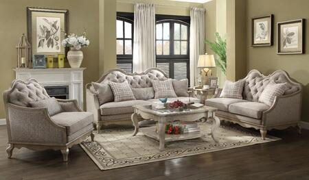 Chelmsford Collection 560505SET 5 PC Living Room Set with Sofa  Loveseat  Chair  Coffee Table and End Table in Beige and Antique Taupe