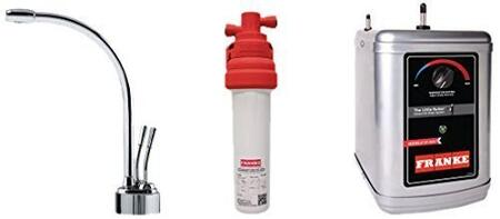 LB9200-100-3HT Faucet Set with LB9200 Hot & Filtered Cold Water Dispenser  FRCNSTR100 Filter Canister and HT300 Little Butler Heating