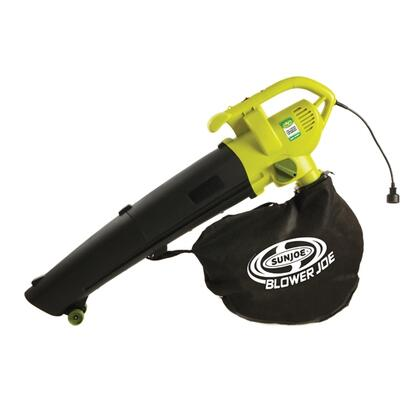 SBJ604E Sun Joe Blower Joe 3-in-1 Electric Blower/Vacuum/Leaf Shredder with 12 AMP Motor  14 Gallon Capacity and 6 Speed