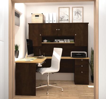 81420-75 Manhattan L-shaped workstation in Secret Maple &