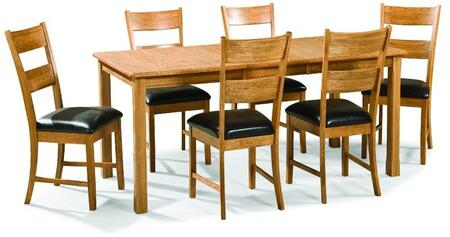 Family Dining FD-TA-L3678169-CNT-C Dining Room Four Leg Table and 6 Chairs in