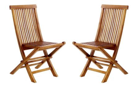 TF22-2 Folding Chairs 18 inch  Folding Chair with Java Indonesian Teak  Stretcher and Foldable Design in Light Teak Oil