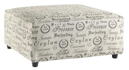 "Alenya Collection 1660008 40"""" Oversized Accent Ottoman with Fabric Upholstery  Piped Stitching and Casual Style in"" 363881"