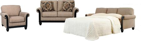 Blackwood 33503QSSLC 3-Piece Living Room Set with Queen Sofa Sleeper  Loveseat and Chair in Taupe