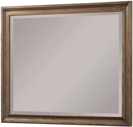 Inverness Collection 26094 42 inch  x 35 inch  Mirror with Beveled Edge  Rectangle Shape  Pine and Cypress Wood Construction in Reclaimed Oak