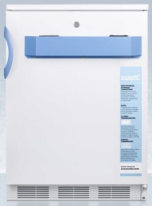 Summit FF7LBIMED2 Accucold MED2 24 Inch Wide 5.5 Cu. Ft. Built-In Medical Refrigerator with Digital Display and Door Lock