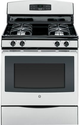 "GE JGB630REFSS 30"" Self-Cleaning Freestanding Gas Range Stainless Steel"