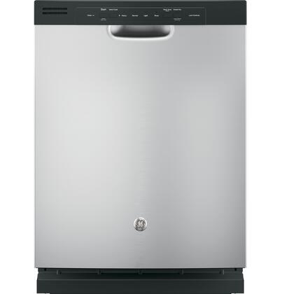 "GE GDF510PMJSA 24"" Front Controls Tall Tub Built-In Dishwasher Silver"
