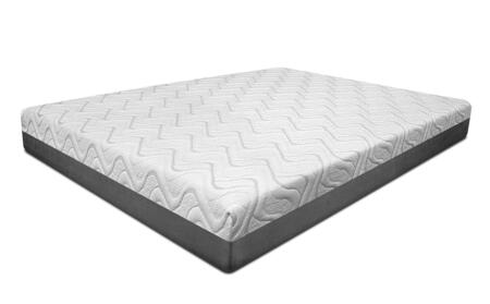 Opal Collection 29122 10 inch  Queen Size Mattress with Infused Gel Particles  Gel Memory Foam  Quick Recovery Base and Made in USA in White