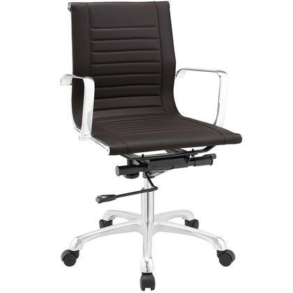 EEI-1527-BRN Runway Mid Back Office Chair in Brown