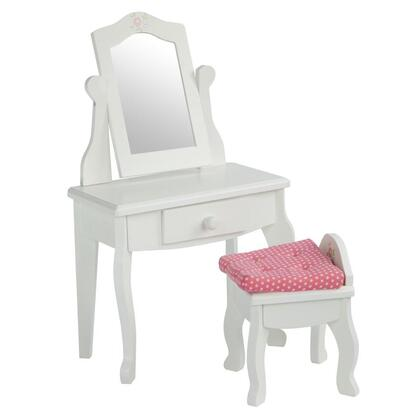 TD-0207A Teamson Kids - Little Princess 18 Doll Furniture - Vanity Table & Stool