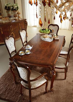 """Donatello_DONATELLOTABLE_79""""_-_98""""_Rectangular_Table_with_One_Extension__Carved_Detailing_and_Molding_Details_in"""