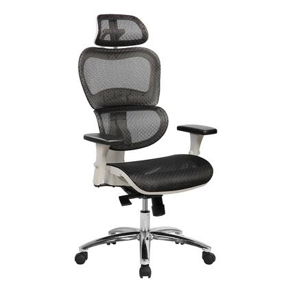 RTA-5003-BK Deluxe High Back Mesh Office Executive Chair with Neck Support. Color:
