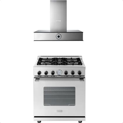 2-Piece Stainless Steel Kitchen Package with RN301GCSS 30 inch  Freestanding Natural Gas Range