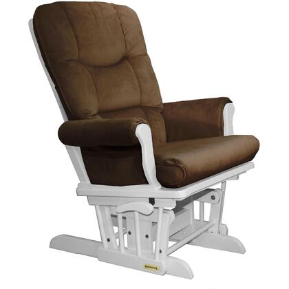 37537KD.15.0191 White Super Comfortable Glider - Bella Pecan