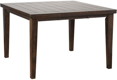 Urbana Collection 74630 54 inch  Counter Height Table with 18 inch  Butterfly Leaf  Tapered Legs  Groover Line Maple Veneer Top and Rubberwood Legs in Espresso