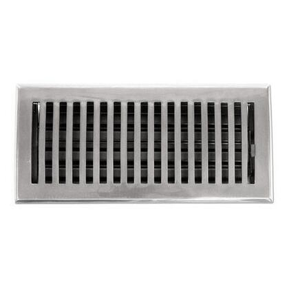 116E PWT Contemporary Series Solid Brass Decorative Floor Register Vent In Pewter