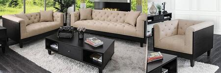 Hillary CM6086-SFLVCHCF 4-Piece Living Room Sets with Sofa  Loveseat  Chair and Coffee Table in Beige and