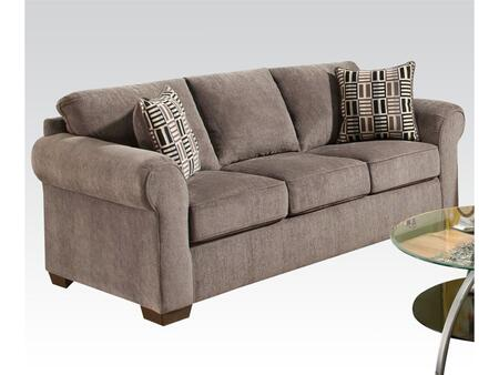Torilyn Collection 51240 86 inch  Sofa with Made in USA  Pillow Included  Wood Frame  Tight Back Cushions  Loose Seat Cushions and Fabric Upholstery in Lola Steel