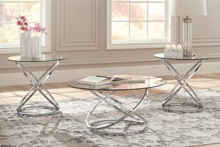 Hollynyx Collection T270-13 3-Piece Occasional Table Set with Coffee Table and 2 End Tables in