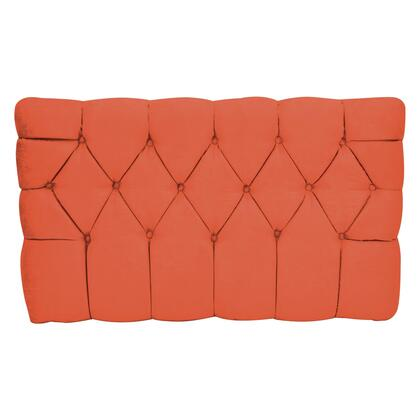 inch Meridia 11201OS Collection inch  Tufted Upholstered Twin Headboard with Metal Legs and Wood Frame in Orange