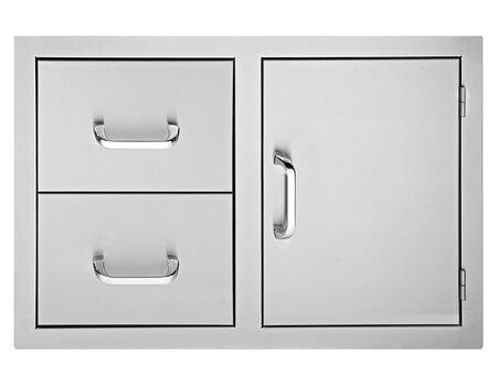 DSDD332 33 inch  Door 2-Drawer Combo : Stainless