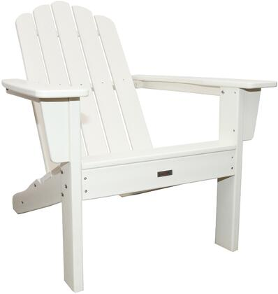 Marina LUX-1519-XXX Outdoor Patio Adirondack Chair with 250 lbs. Weight Capacity  Wide Seating and Recycled High Density Polyethylene Construction in