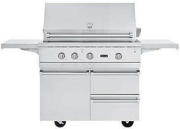VGBQ54224N Professional 5 Series Outdoor Ultra-Premium Gas Grill with 25 000 BTU Stainless Steel Burners  15 000 BTU Infrared Rear Burner  Easy Lift Canopy 353850