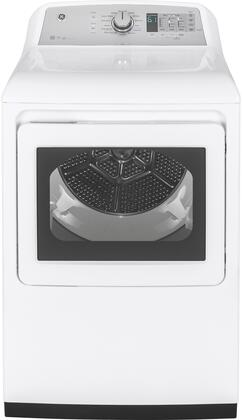 GE GTD75GCSLWS 27 Smart Gas Dryer with 7.4 cu. ft. Capacity, 14 Dry Cycles, 5 Temperature Settings, in White