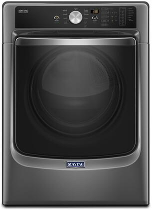 "MED8200FC 27"" Energy Star  ADA Compliant Electric Dryer with 7.4 cu. ft. Capacity  PowerDry System  Rapid Dry Cycle and Sanitize Cycle: Metallic"