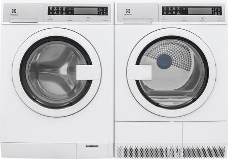 White Compact Front Load Laundry Pair with EFLS210TIW 24 inch  Washer and EFDE210TIW 24 inch  Electric