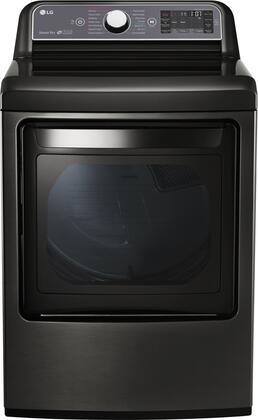 LG DLGX7601KE 7.3 Cu. Ft. Black Stainless Gas Dryer with Steam