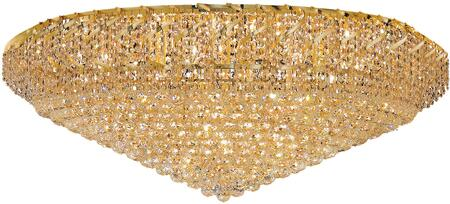 VECA1F48G/EC Belenus Collection Flush Mount D:48In H:21In Lt:36 Gold Finish (Elegant Cut