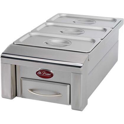 "BBQ07888P 12"""" Drop In Food Warmer with 3 Holding Pans  Individual Covers  and Stainless Steel"" 356490"