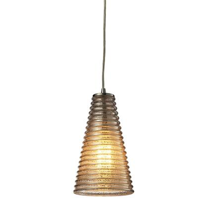10333/1 Ribbed Glass Collection 1 Light mini Pendant in Satin 397783