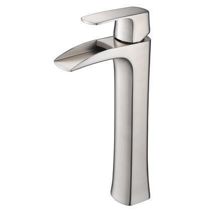 FFT3072BN Fortore Single Hole Vessel Mount Bathroom Vanity Faucet - Brushed