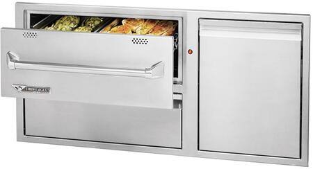 "TEWD42C-C 42"" Outdoor Warming Drawer Combo with Slide Out Trash Holder  in Stainless"