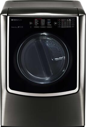 LG DX9501K SIGNATURE 9.0 Mega Capacity TurboSteam Gas Dryer in Black Stainless Steel