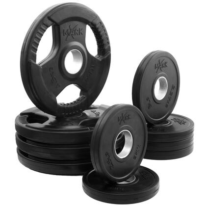 XM-3377-BAL-65 XMark Rubber Coated Tri-grip Olympic Plate Weight