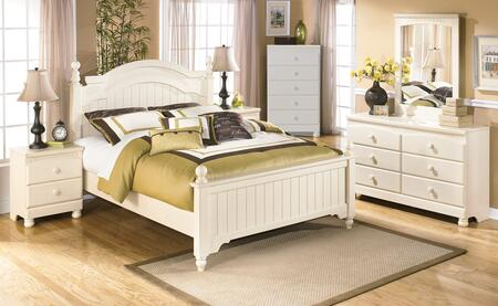 Cottage Retreat Full Bedroom Set With Poster Bed  Dresser  Mirror And Nightstand In