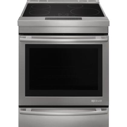 Jenn-Air JIS1450DS 30 Induction Electric Range with 7.1 cu. ft. Capacity Baking Drawer True Convection Aqualift Self Cleaning Technology Sensor Boil and Melt Function in Stainless