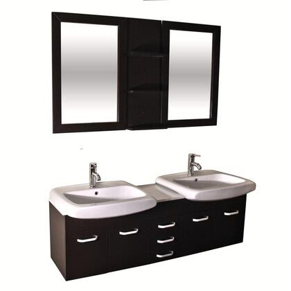 Click here for WF-9129 60 Espresso Double Sink Bathroom Floating... prices