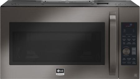 LG 1.7 Cu. Ft. Convection Over-the-Range Microwave with Sensor Cooking Black stainless steel LSMC3089BD