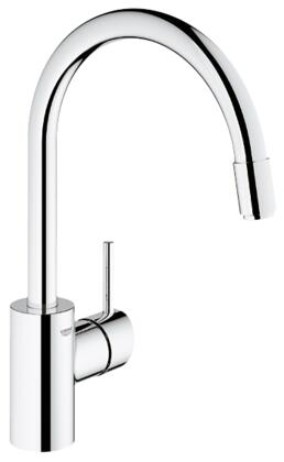 Grohe 32665001 Concetto Single-Handle Kitchen Faucet, Starlight