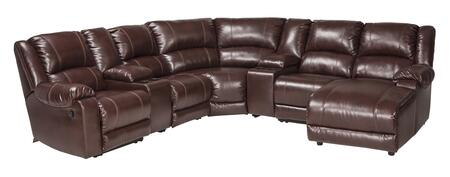 Macgrath Durablend Collection 6090540574677195717 Sectional Sofa With Left Arm Facing Zero Wall Recliner  2 Consoles  Armless Chair  Wedge  Armless Recliner