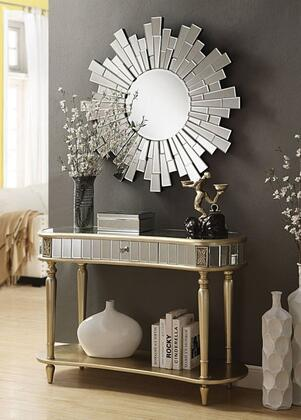 Kaya 97239SET 2 PC Console Set with Console Table + Mirror in Champagne