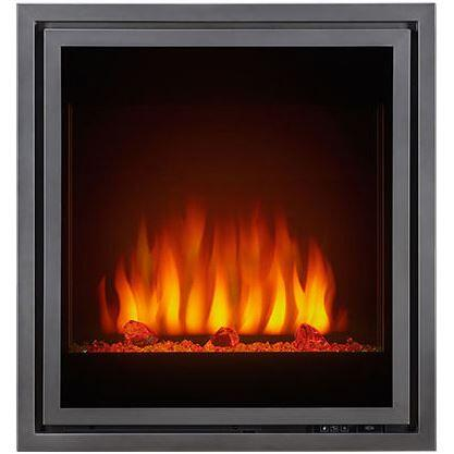 """NEFB30GL Tranquill 30"""" Electric Fireplace Insert with Glass Front  5 000 BTUs  Log Set and Crystals Included  ULTRA BRIGHT LED Overhead NIGHT LIGHT and Full"""